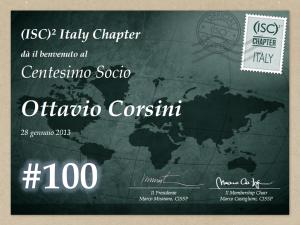 Il riconoscimento per Ottavio Corsini